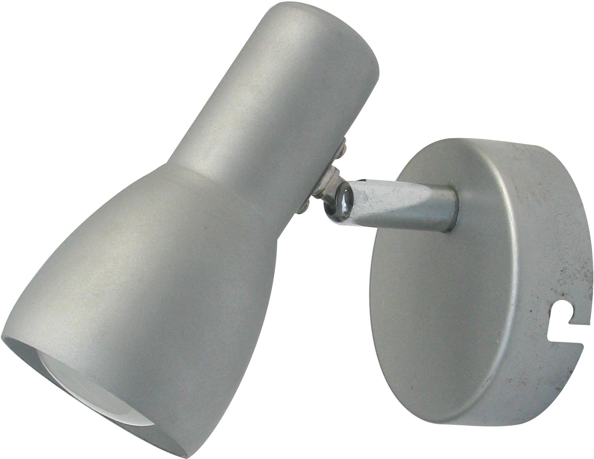Candellux PICARDO 91-43917 kinkiet lampa ścienna srebrno-szary stalowy klosz 1X40W E14 6cm