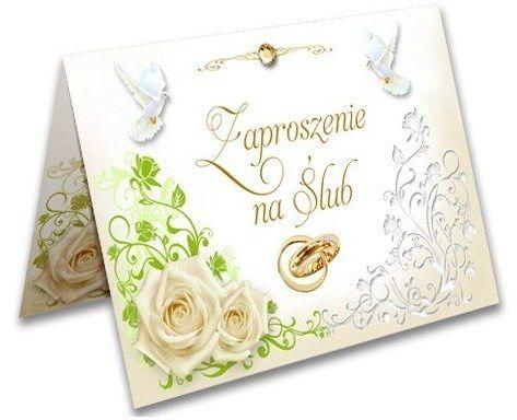 Zaproszenie na Ślub Obrączki + koperta 1 sztuka ZX9200