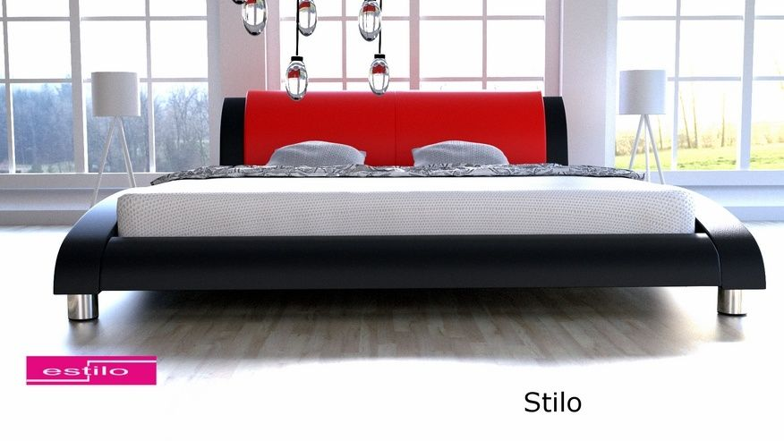 Łóżko tapicerowane Stilo skóra naturalna 180x200