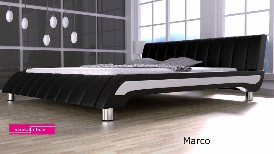 Łóżko tapicerowane Marco skóra naturalna 160x200