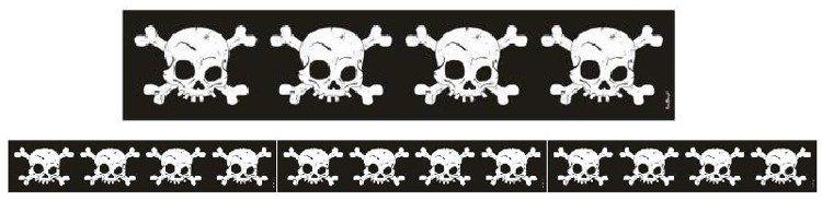Taśma na Halloween czaszki ok. 150 cm PRTWH1