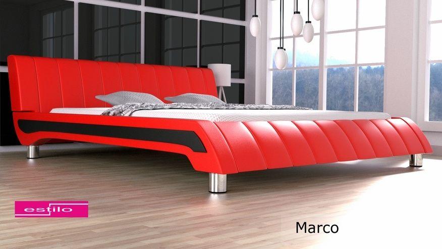 Łóżko tapicerowane Marco skóra naturalna 180x200