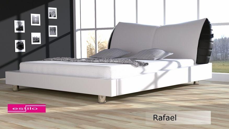 Łóżko tapicerowane Rafael skóra naturalna 140x200