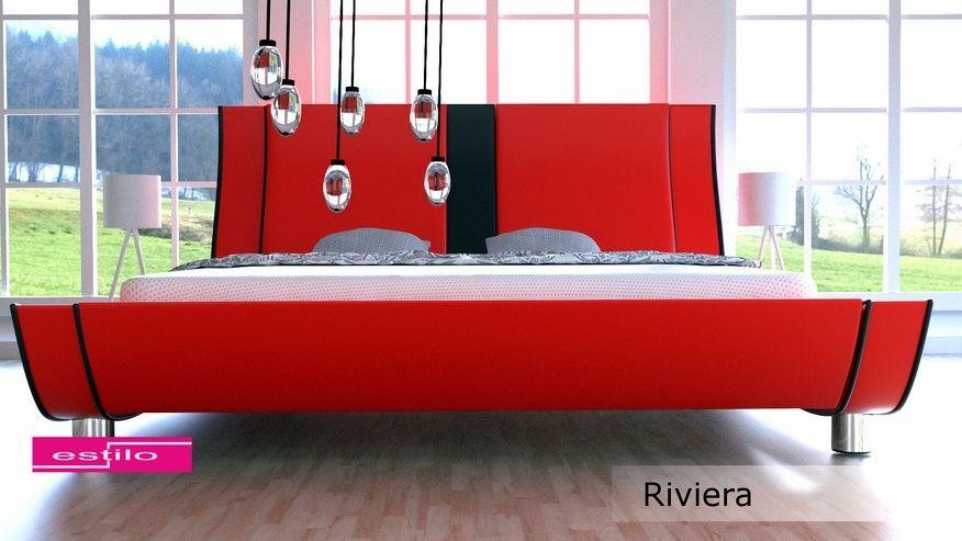 Łóżko tapicerowane Riviera skóra naturalna 140x200