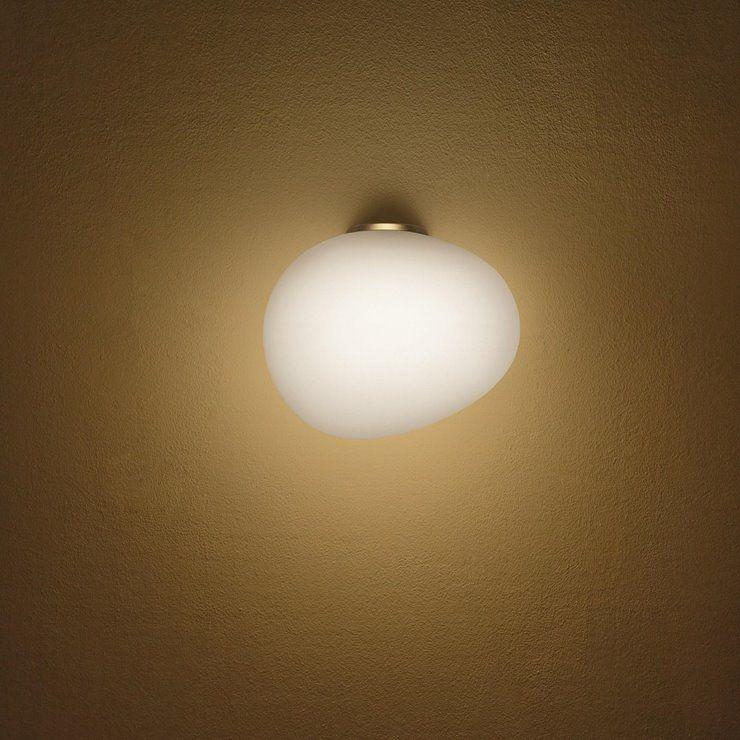 Gregg Grande Semi 2 H39 biały, złoty - Foscarini - lampa ścienna