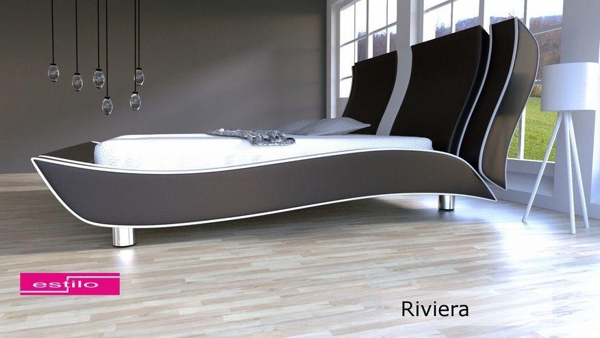 Łóżko tapicerowane Riviera skóra naturalna 180x200