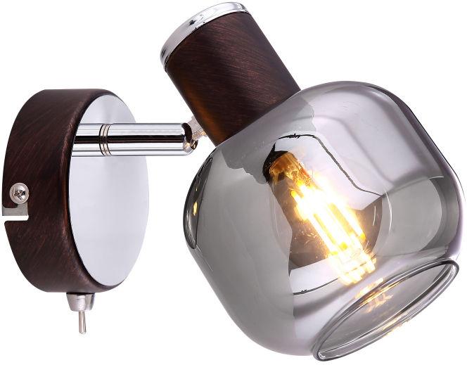 Globo PALLO 54303-1 kinkiet lampa ścienna brąz chrom 1xE14 40W 12,5cm