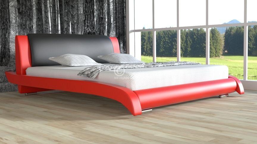 Łóżko tapicerowane Lotos skóra naturalna 180x200