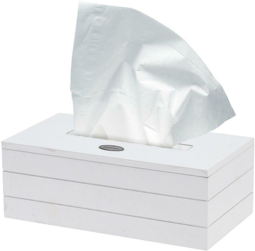 Biały pojemnik na chusteczki higieniczne, papierowe, chustecznik, podajnik, 23x13,5x9 cm