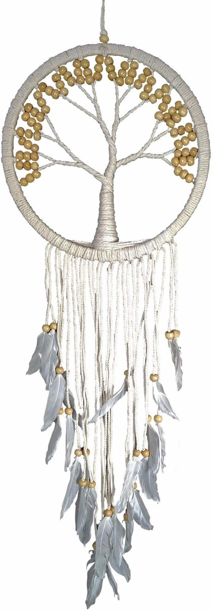 Asiastyle DC-TREEOL01-027WH-NA łapacz snów, biały, naturalny, 27 cm