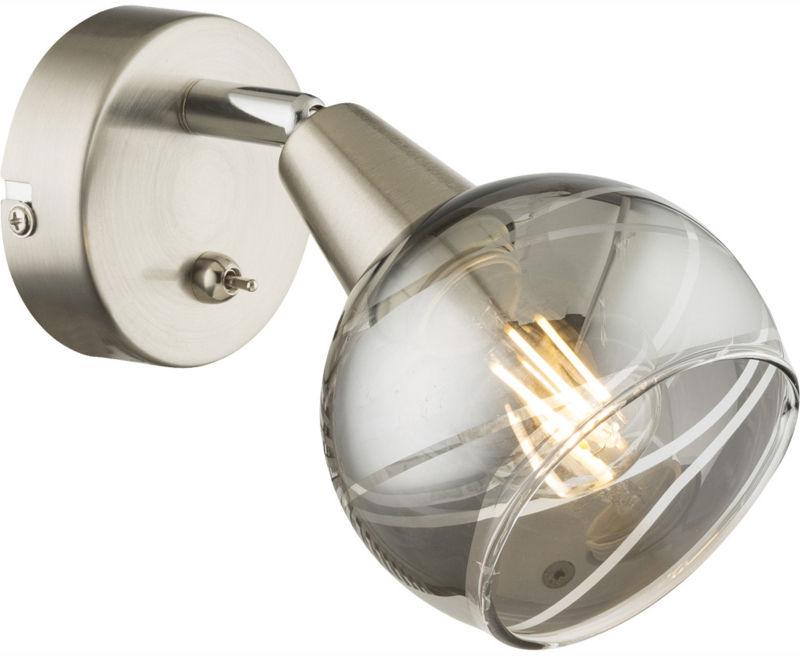 Globo ROMAN 54348-1 kinkiet lampa ścienna nikiel mat 1xE14 LED 4W 15cm
