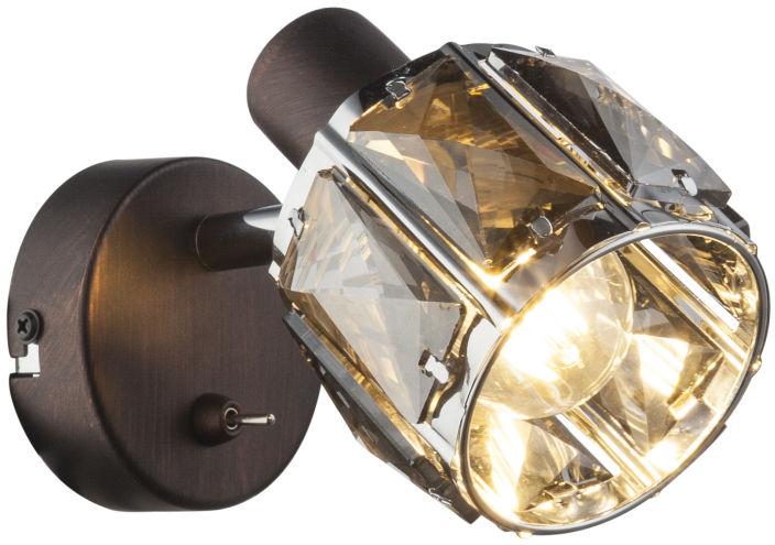 Globo INDIANA 54357-1 kinkiet lampa ścienna brąz 1xE14 40W 12,5cm
