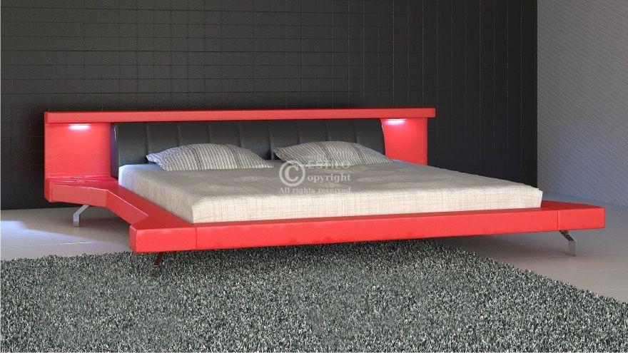 Łóżko tapicerowane Soul Led 160x200 - tkanina