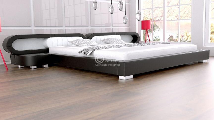 Łóżko do sypialni Harmony 4xLed 160x200 - tkanina