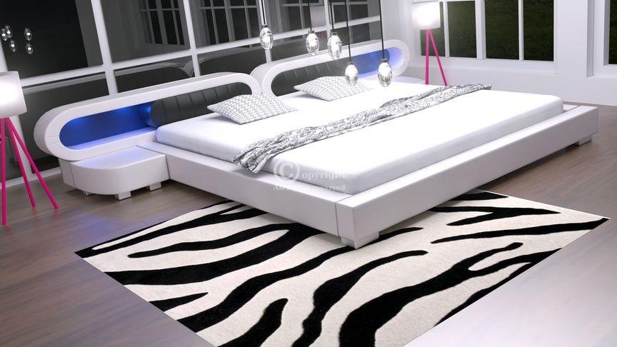 Łóżko do sypialni Harmony 4xLed 200x220 - tkanina