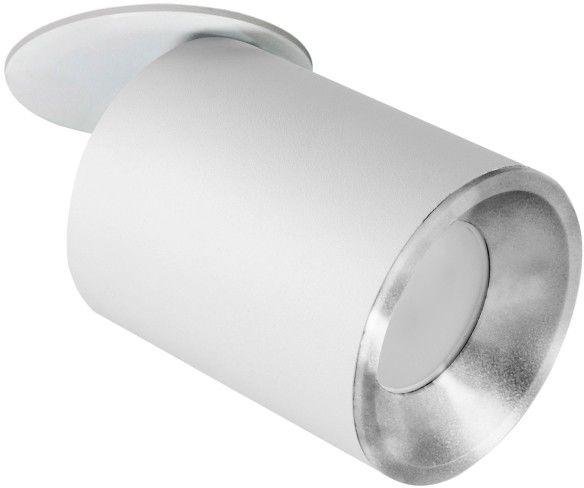 Oczko przegubowe podtynkowe PALLAS 1x10W GU10 biało-srebrne 314116 POLUX/SANICO