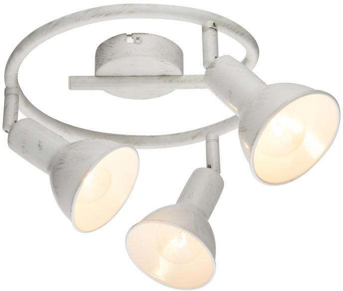 Globo CALDERA 54648-3 plafon lampa sufitowa biała złota przecierka spot 3xE14 40W 47cm