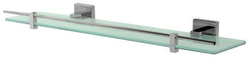 Półka łazienkowa 50 x 13 cm Bisk ARKTIC znal + szkło matowe chrom