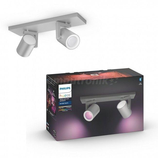 Podwójne oświetlenie punktowe Argenta 50622/48/P7 PHILIPS HUE White and color ambiance Bluetooth