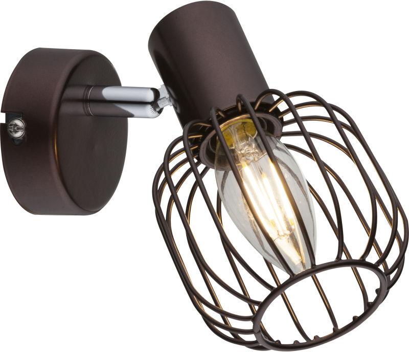 Globo AKIN 54801-1 kinkiet lampa ścienna brąz 1xE14 40W 9cm