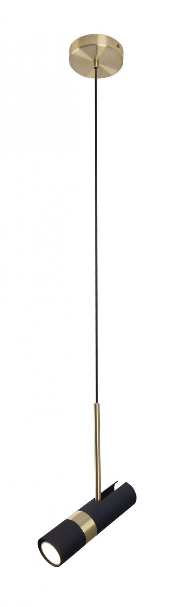 Lampa wisząca PUMA P0408 MAXlight czarno-złota oprawa w stylu nowoczesnym