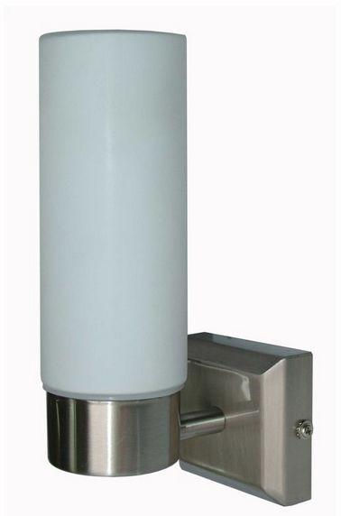 Globo kinkiet lampa ścienna Space 7815 satyna nikiel biały szklany klosz do łazienki IP44