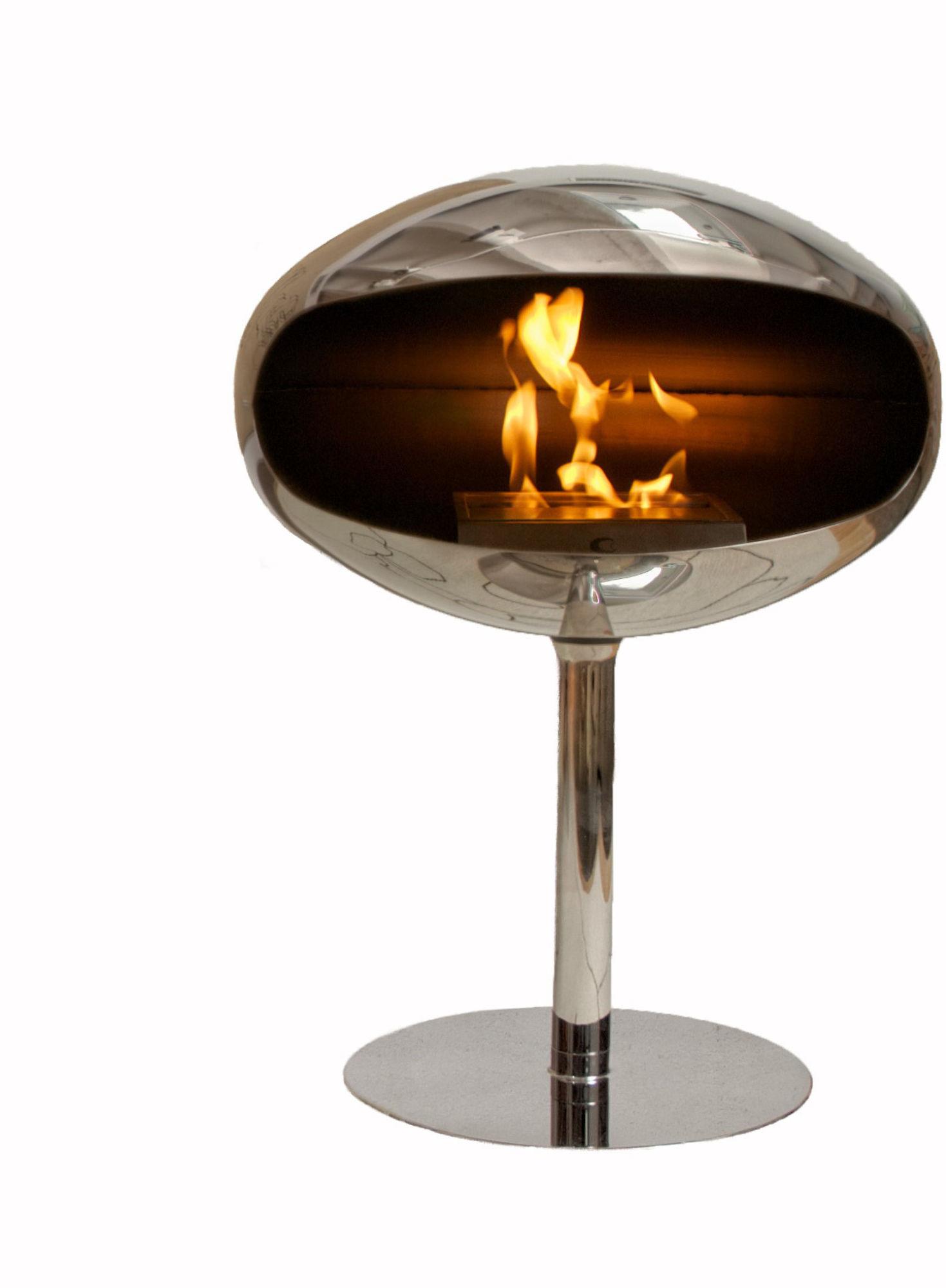 Biokominek Cocoon Terra Pedestal Stainless Steel --- OFICJALNY SKLEP Cocoon Fires
