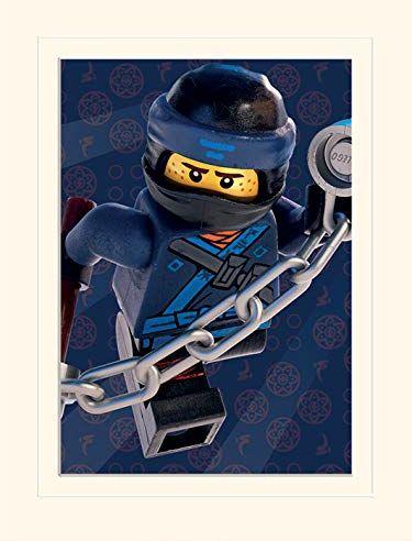 Pyramid International Lego Ninjago film (Jay Crop) - pamiątki z nadrukiem 30 x 40 cm, papier wielokolorowy, 30 x 40 x 1,3 cm