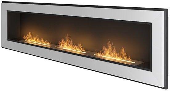 Biokominek wiszący Simple Fire FRAME 1800 biały 1800x490 mm --- OFICJALNY SKLEP SIMPLEfire
