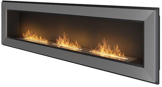 Biokominek wiszący Simple Fire FRAME 1800 INOX 1800x490 mm --- OFICJALNY SKLEP SIMPLEfire
