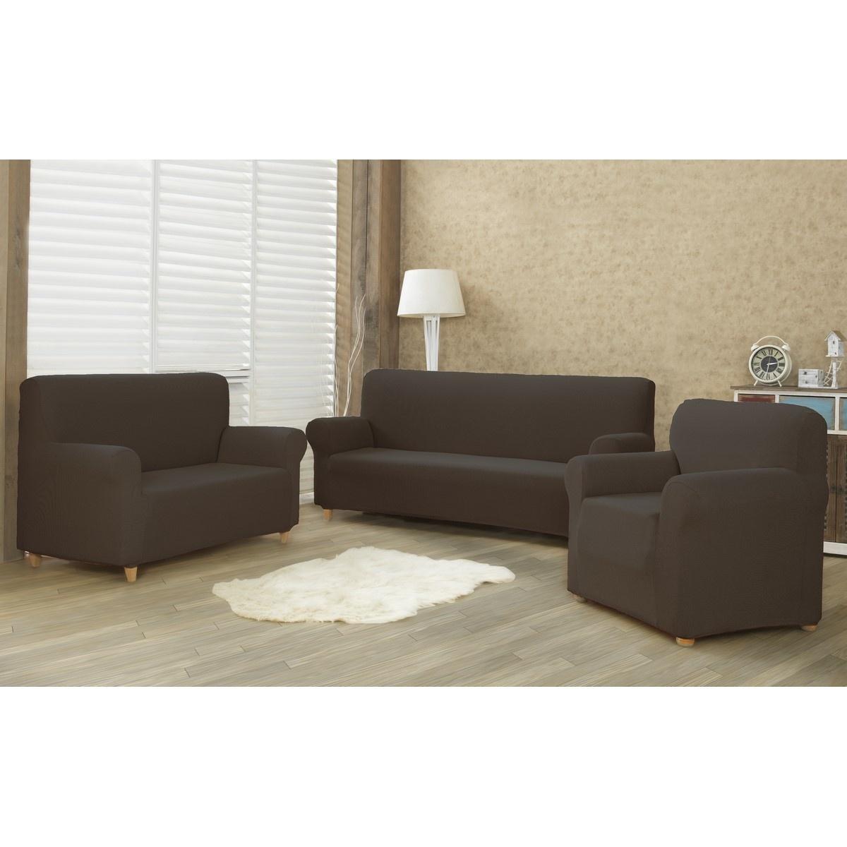 4Home Multielastyczny pokrowiec na fotel Comfort brązowy, 70 - 110 cm, 70 - 110 cm