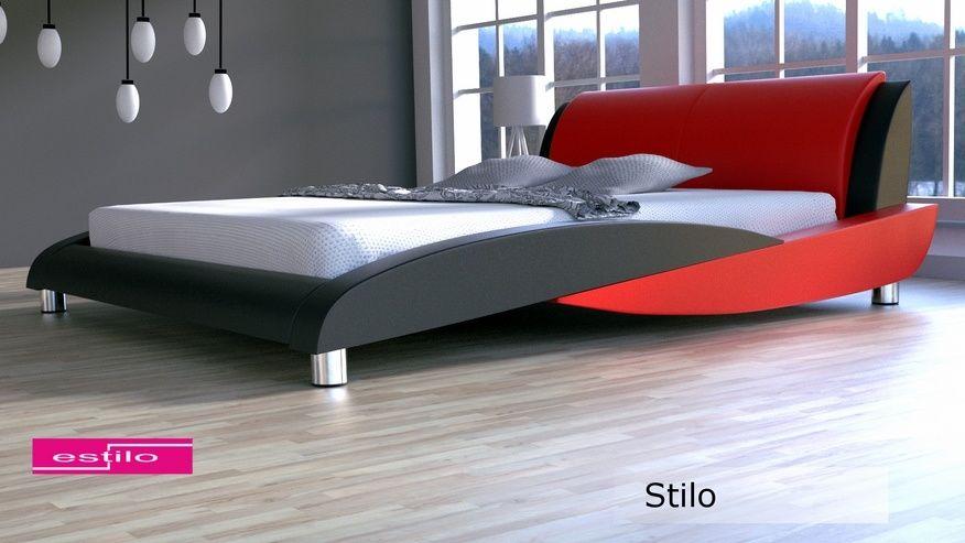Łóżko tapicerowane Stilo 200x200 - tkanina