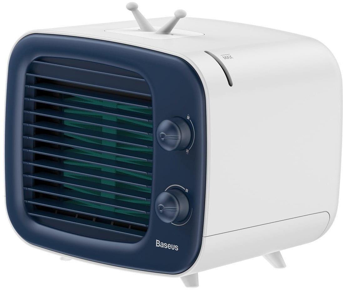 Mini klimatyzator Baseus Time wentylator, nawilżacz (niebiesko-biały)