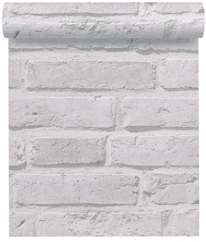 Tapeta 3D Cegła biała imitacja cegły winylowa na flizelinie