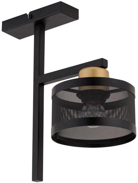 Nowoczesna lampa sufitowa OFF 1 PLAFON czarny/złoty 32141