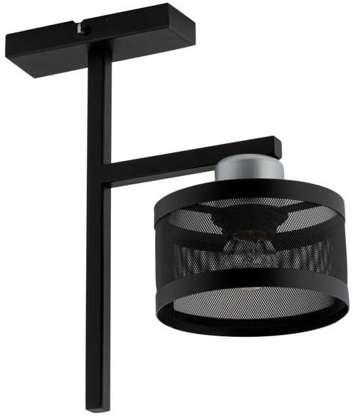 Nowoczesna lampa sufitowa OFF 1 PLAFON czarny/srebrny 32142