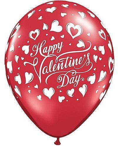 Qualatex 23407 28 cm serce Walentynki czarne serca lateksowy balon 06 ct