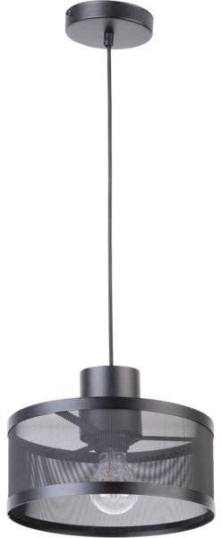 Lampa sufitowa wisząca siatka BONO 1 ZWIS czarny 31904