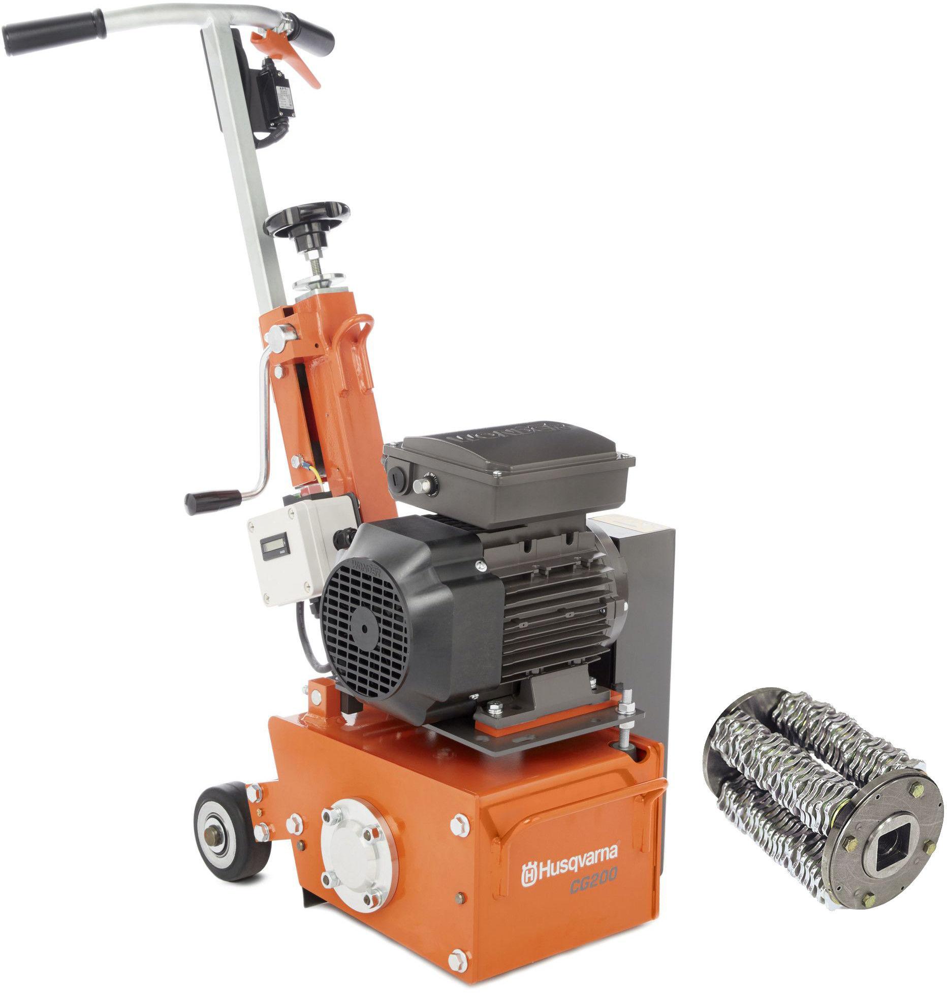 Elektryczna frezarka podłogowa Husqvarna CG200 E + FREZ TCT Z BĘBNEM