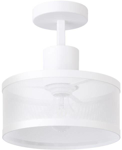 Lampa sufitowa plafon siatka BONO 1 PL biały 31911