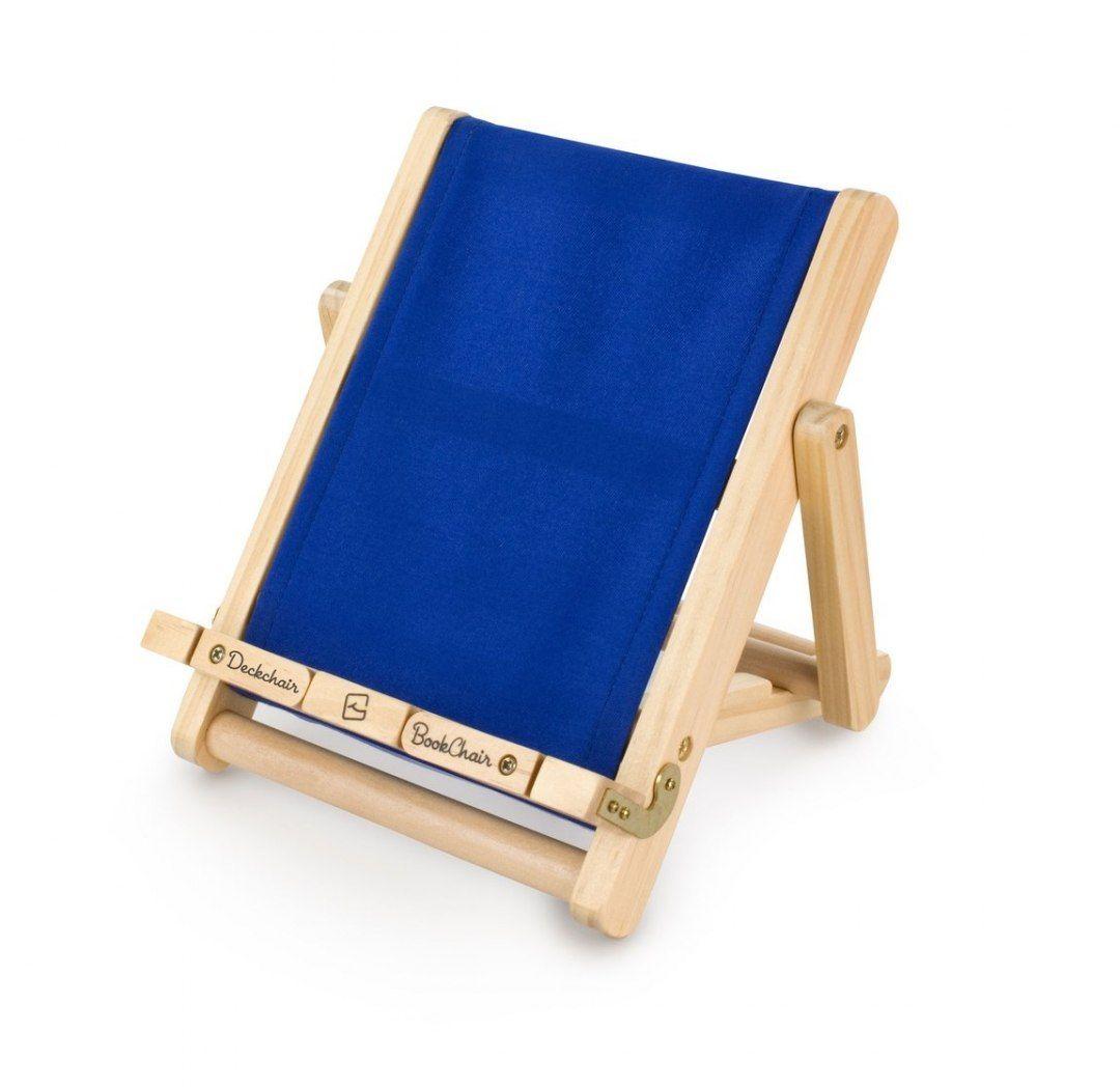 Podstawka pod książkę lub tablet - duży niebieski leżak