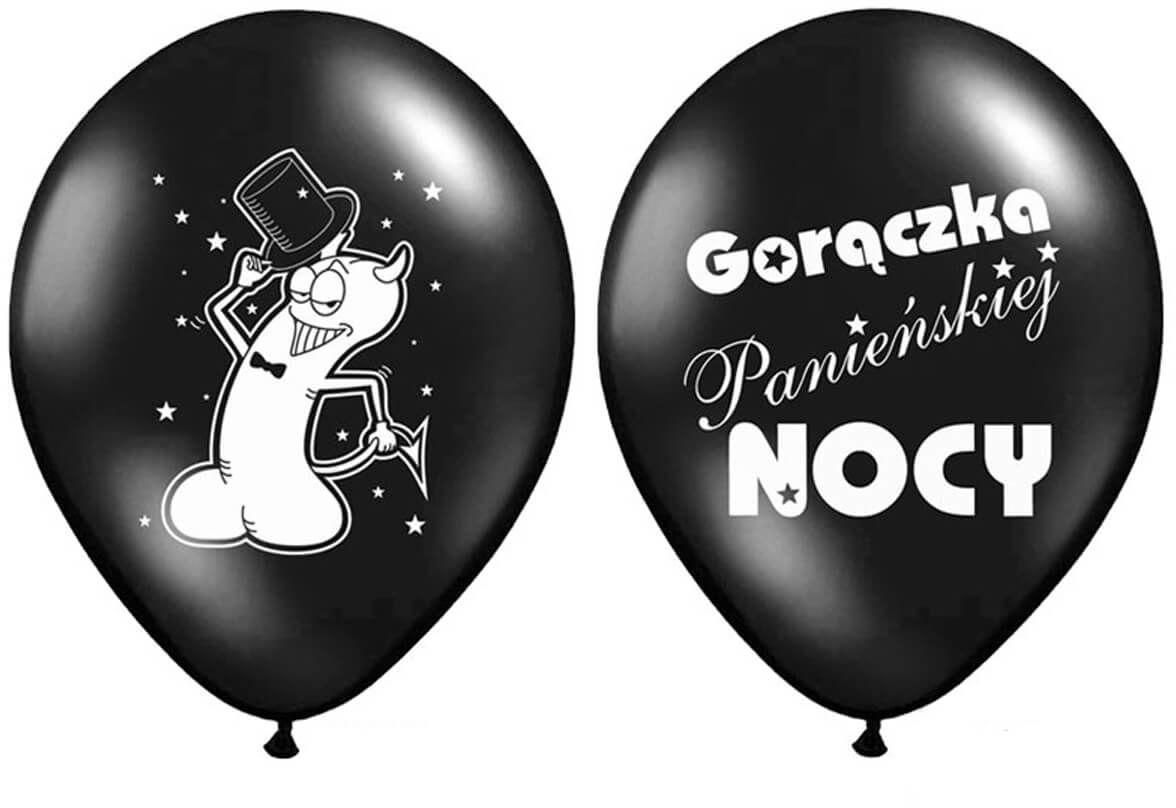 Balony na Wieczór Panieński Gorączka Panieńskiej Nocy - 30 cm - 6 szt.