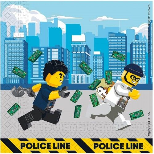 Serwetki papierowe Lego City, 20 szt.