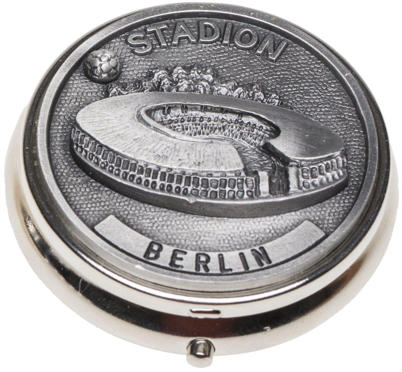 Schnabel-Schmuck Berlin popielniczka kieszonkowa nakładka cyna stadion piłkarski