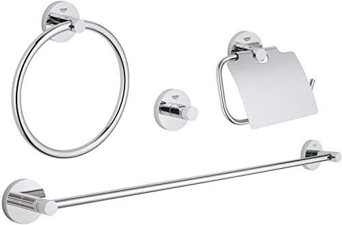 GROHE Essentials akcesoria łazienkowe - zestaw łazienkowy 4 w 1 chrom 40776001
