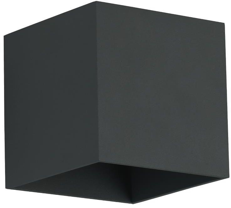 Lampex Quado czarny 688/K CZA kinkiet lampa ścienna nowoczesna czarny metal kwadrat 1x40W G9 10cm