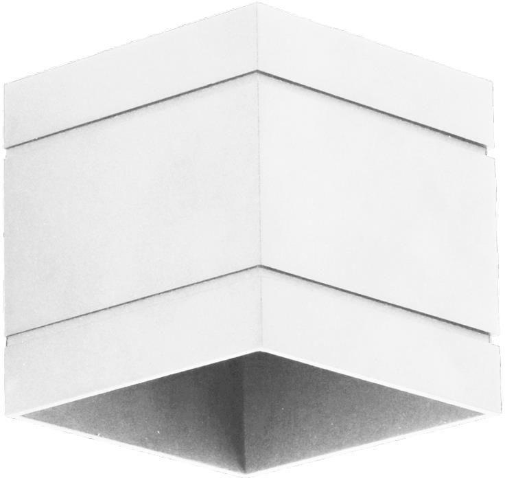 Lampex Quado DELUXE A biały 691/KA BIA kinkiet lampa ścienna nowoczesna metal biały kwadrat 1x40W G9 10cm
