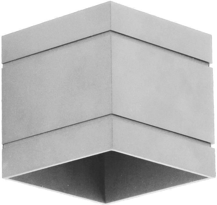 Lampex Quado DELUXE A popiel 691/KA POP kinkiet lampa ścienna nowoczesna metalowy kwadrat 1x40W G9 10cm