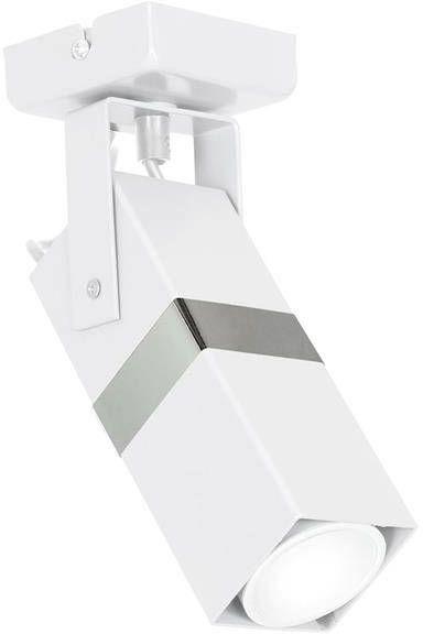 Nowoczesny kinkiet spot VIDAR WHITE/CHROME 1xGU10 MLP6281