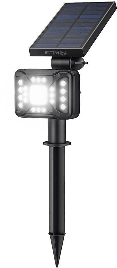 Zewnętrzna lampa solarna LED Blitzwolf BW-OLT2 z czujnikiem zmierzchu, 1800mAh